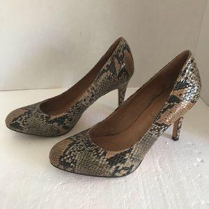 Corso Como snake skin heels brown 8.5 8 1/2